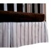 <strong>Baby Basics Striped Box Pleat Crib Skirt</strong> by Go Mama Go