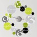 Room Mates 19 Piece Peel & Stick Clock Circle Wall Decal Set
