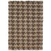 Dogtooth Handspun Jute Brown Rug