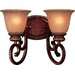 Belcaro Two Lamp Vanity Light Wall Sconce in Belcaro Walnut