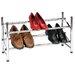 Storage and Organization Sliding Rods Shoe Rack with Locking Mechanism