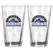 MLB Pint Glass Cup (2 Pack)