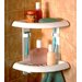Two Tier Corner Shower Caddy in White