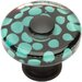 "<strong>Atlas Homewares</strong> Glass 1.5"" Emarld Polka Dot Square Knob"