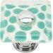 "Atlas Homewares Glass 1.5"" Emerald Polka Dot Round Knob"