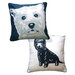<strong>Doggie Style Reversible West Highland Terrier Pillow</strong> by Naked Decor