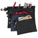 <strong>Custom Leathercraft</strong> 3 Piece Multipurpose Clip On Zippered Bags Set