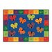 <strong>Literacy 123 ABC Butterfly Fun Kids Rug</strong> by Carpets for Kids