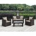 <strong>Handy Living</strong> 4 Piece Deep Seating Group with Cushion