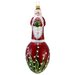 David Strand Glass Faberge Lily of the Valley Santa Ornament