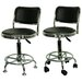 Height Adjustable Undersized Stool with Low Profile Backrest and Casters