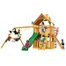 <strong>Gorilla Playsets</strong> Chateau II Clubhouse with Amber Posts Cedar Swing Set