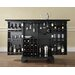 LaFayette Expandable Bar Cabinet in Black