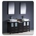"<strong>Torino 60"" Modern Double Sink Bathroom Vanity Set with Side Cabinet...</strong> by Fresca"