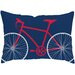 Bicycle Poly Cotton Outdoor Throw Pillow
