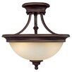<strong>Belmont 2 Light Semi Flush Mount</strong> by Capital Lighting