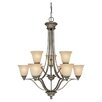 <strong>Capital Lighting</strong> Belmont 9 Light Chandelier