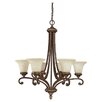<strong>Capital Lighting</strong> Carlisle 6 Light Chandelier