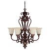 <strong>Capital Lighting</strong> Chesterfield 6 Light Chandelier