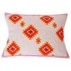Jiti Kora Jute Linen Hand Block Printed Embroidered Pillow