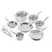 <strong>Ultimate Stainless Steel 12-Piece Cookware Set</strong> by T-fal