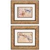 Propac Images Fluttering 2 Piece Framed Painting Print Set