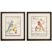 <strong>Propac Images</strong> Perched Note 2 Piece Framed Graphic Art Set