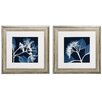 <strong>Hydrangeas Neg 2 Piece Framed Graphic Art Set</strong> by Propac Images