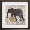 Propac Images Giraffes Elephants 2 Piece Framed Graphic Art Set