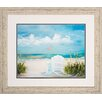 Propac Images Beach Scene 2 Piece Framed Painting Print Set