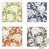 Propac Images Jardin Floral 4 Piece Framed Graphic Art Set