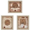 <strong>Paragon</strong> French Ornaments Giclee by Burney 3 Piece Framed Graphic Art Shadow Box Set