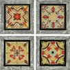 Paragon Bohemian Tiles Textured by Brissonnet 4 Piece Graphic Art Plaque Set