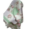 """Textiles Plus Inc. 100% Cotton Quilted Spring Patchwork 50"""" x 60"""" Throw"""