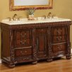 "<strong>Global Treasures</strong> Kent 60"" Double Sink Vanity Set"