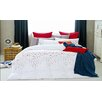 Malibu Red Petal 7 Piece Duvet Cover Set