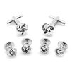 <strong>Ox and Bull</strong> Silver Knot Stud Set 6 Piece Set