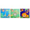 <strong>Nuby</strong> Jungle Boy's Canvas Art (Set of 3)