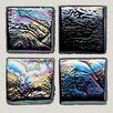 "Daltile Sonterra Collection 1"" x 1"" Iridescent Mosaic Tile in Black"