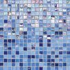 "Daltile City Lights 1/2"" x 1/2"" Glass Frosted Mosaic in Capri"
