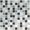 "Daltile Keystones Blends 1"" x 1"" Porcelain with Oceanside Glass Unpolished Mosaic in Tropical Thunder"