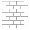 """<strong>Rittenhouse Square 4"""" x 2"""" Brick Joint Mosaic in Almond</strong> by Daltile"""