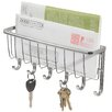 InterDesign Wall Mountable Mail and Key Rack