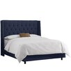 Skyline Furniture Regal Upholstered Wingback Bed
