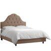 <strong>Velvet Upholstered Panel Bed</strong> by Skyline Furniture