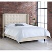 Skyline Furniture Linen Upholstered Wingback Bed