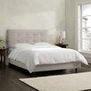 Skyline Furniture Velvet Upholstered Panel Bed