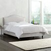 Skyline Furniture Mystere Velvet Upholstered Panel Bed