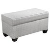 Skyline Furniture Cross Section Upholstered Storage Bedroom Bench