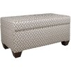 Skyline Furniture Clover Upholstered Storage Bedroom Bench